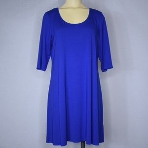 EILEEN FISHER | Royal Blue Dress | Scoop Neck | M